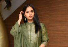Sunaina in a juniper green kurta-set for raja raja chora pre-reelase event-3