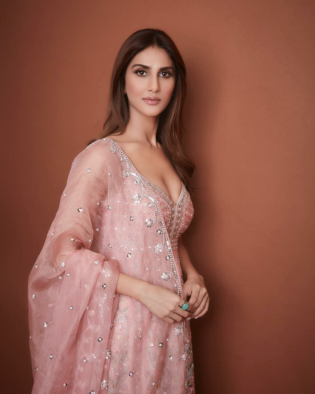 Vaani Kapoor in anita dongre outfit for bell bottom promotions-4