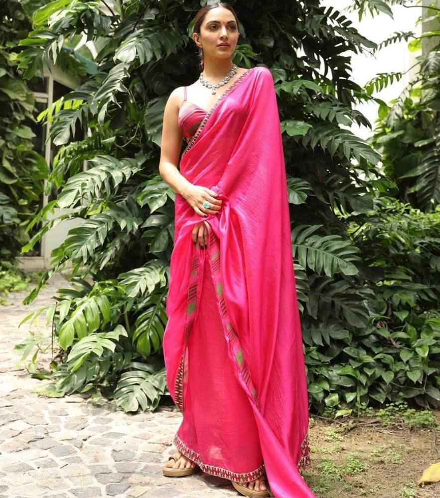 kiara advani in pink saree from punit balana