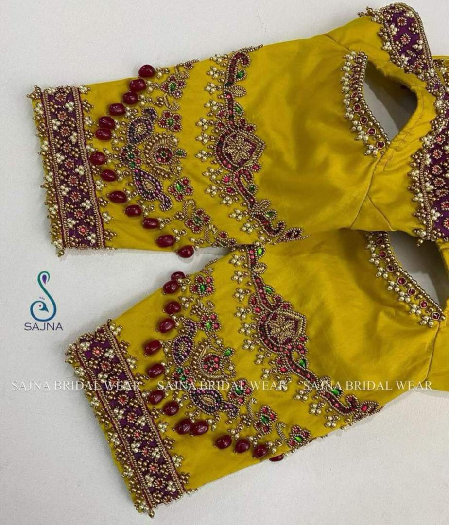 sleeve design for maggam blouses by sajna bridal wear-1