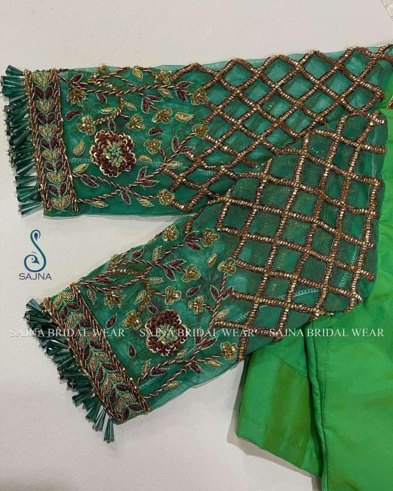 sleeve design for maggam blouses by sajna bridal wear-10
