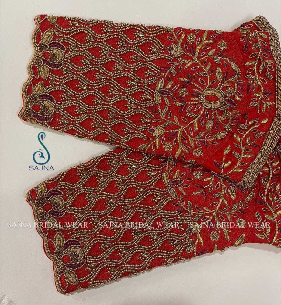 sleeve design for maggam blouses by sajna bridal wear-11