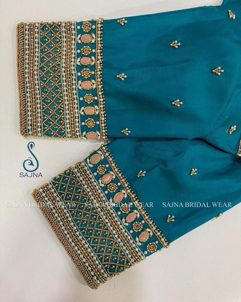 sleeve design for maggam blouses by sajna bridal wear-13