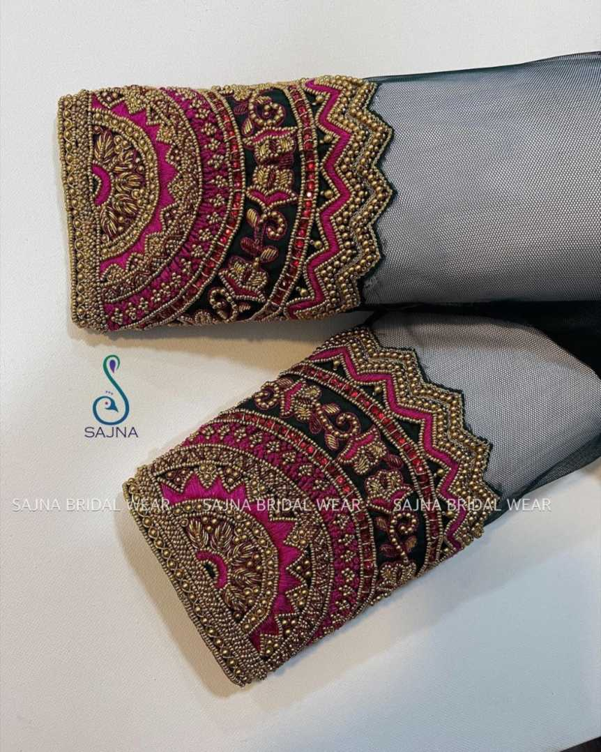 sleeve design for maggam blouses by sajna bridal wear-2