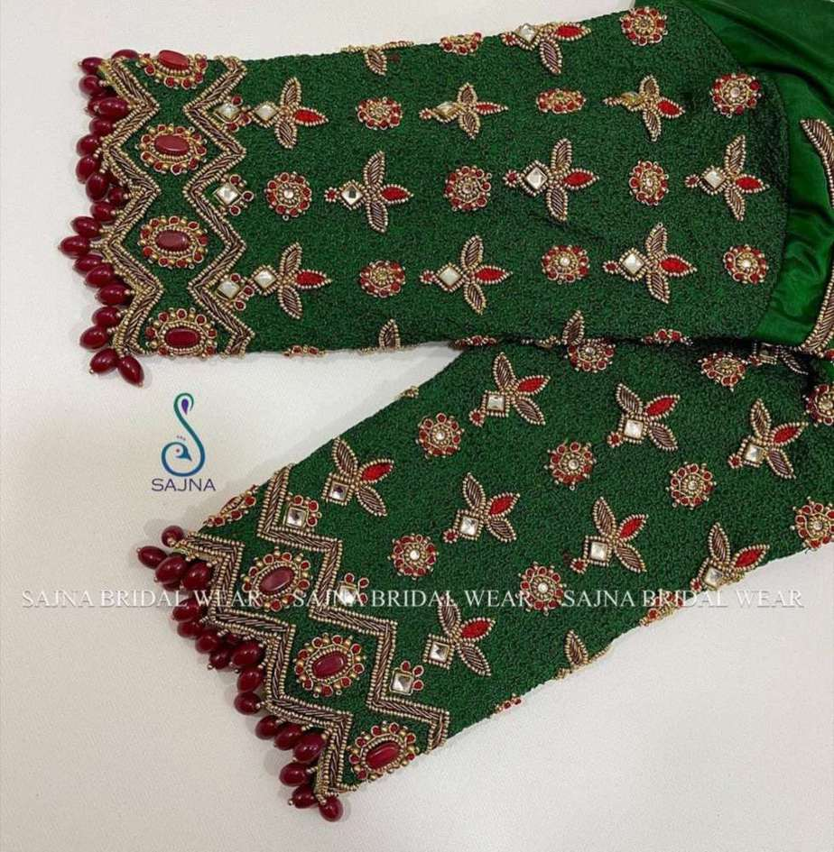 sleeve design for maggam blouses by sajna bridal wear-6