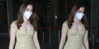 tamannah bhatia in short dress at airport