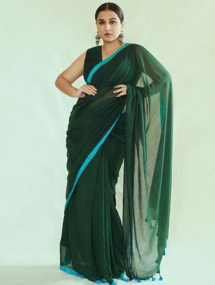 vidya balan in saree from house of urrmi