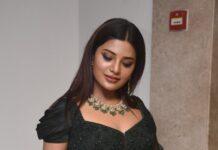 Aathmika in a dark green lehenga set at VijayaRaghavan pre-release event-1