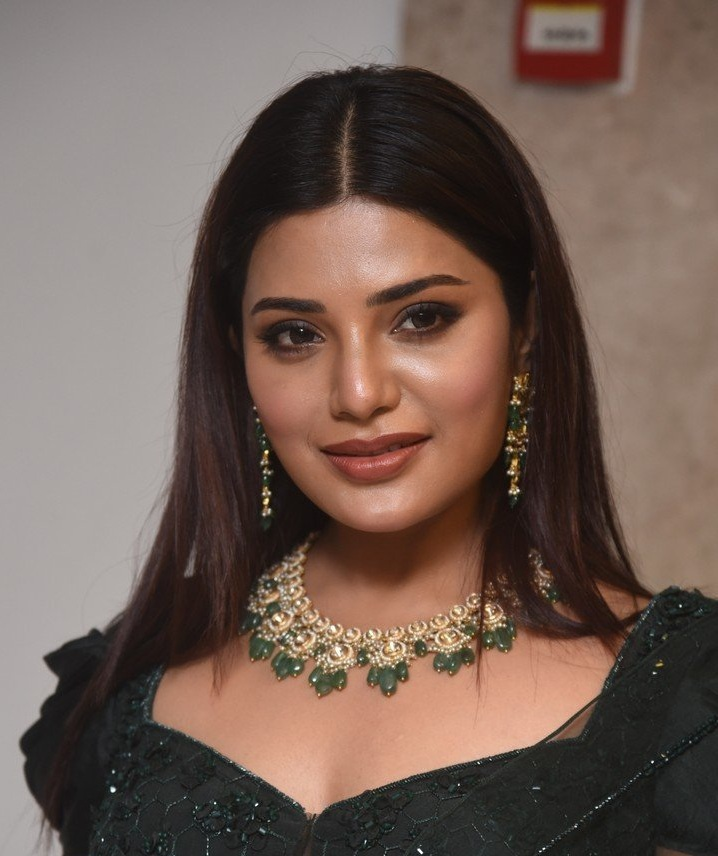Aathmika in a dark green lehenga set at VijayaRaghavan pre-release event-2