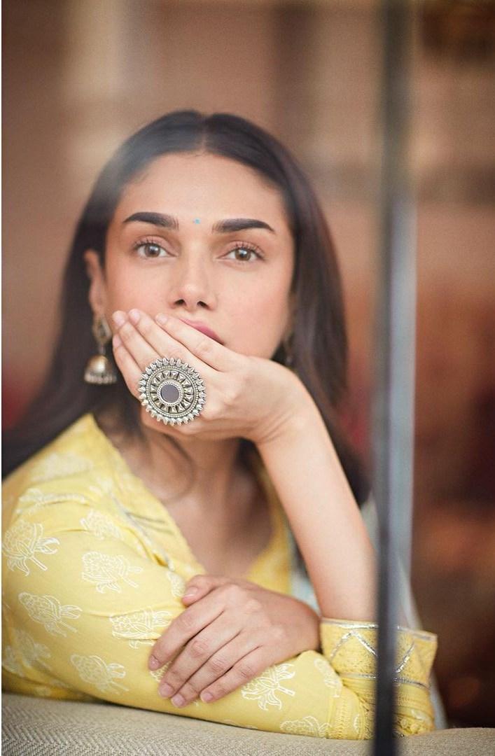 Aditi Rao Hydari in a yellow sharara set by the loom-1