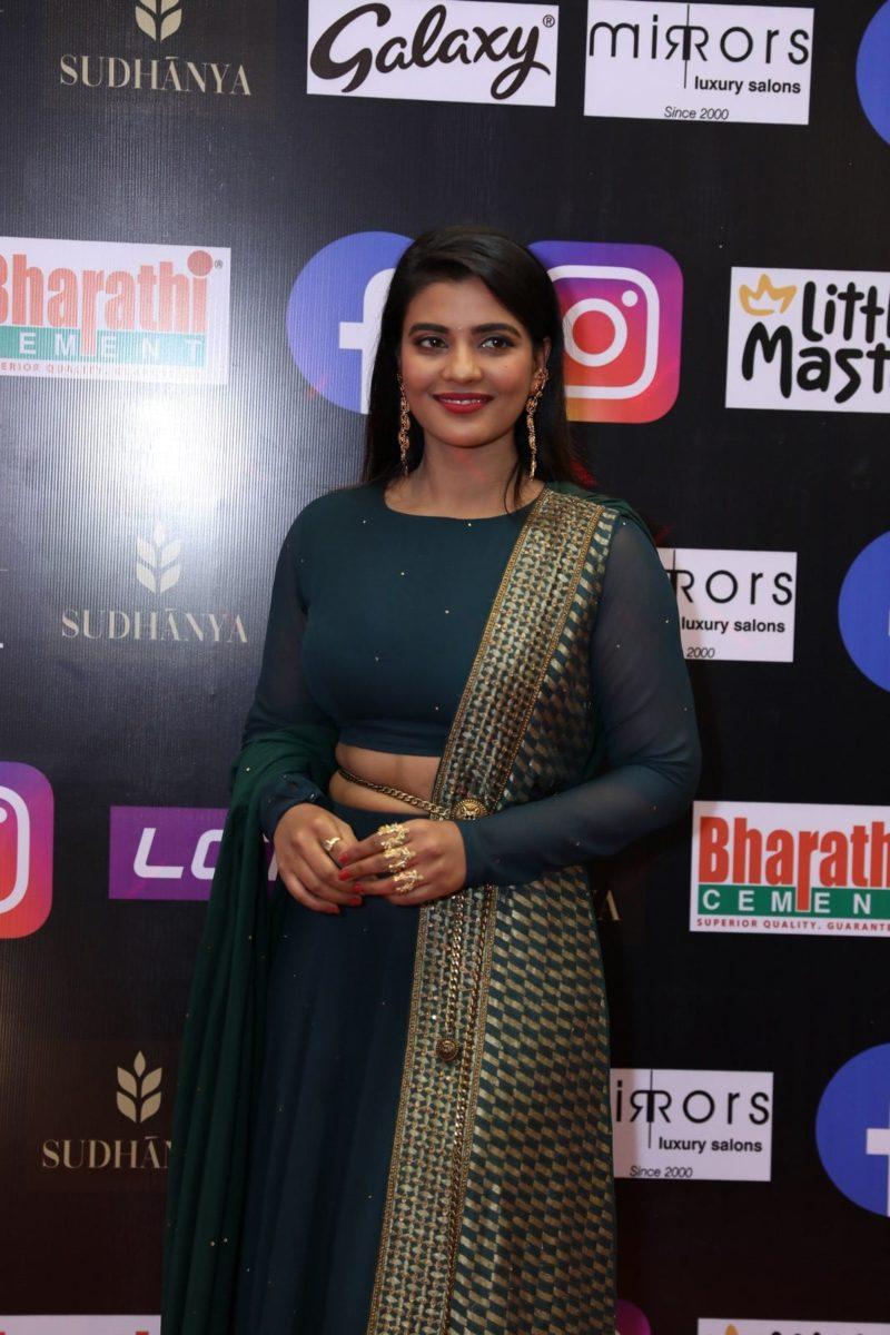 Aishwarya rajesh in a green lehenga set for SIIMA 2021-3