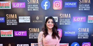Aparna Balamurali in soft pink lehenga set by Thunnal for SIIMA 2021-1