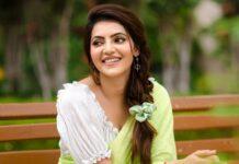 Athulyaa Ravi in a pear green saree by label pavishka-3