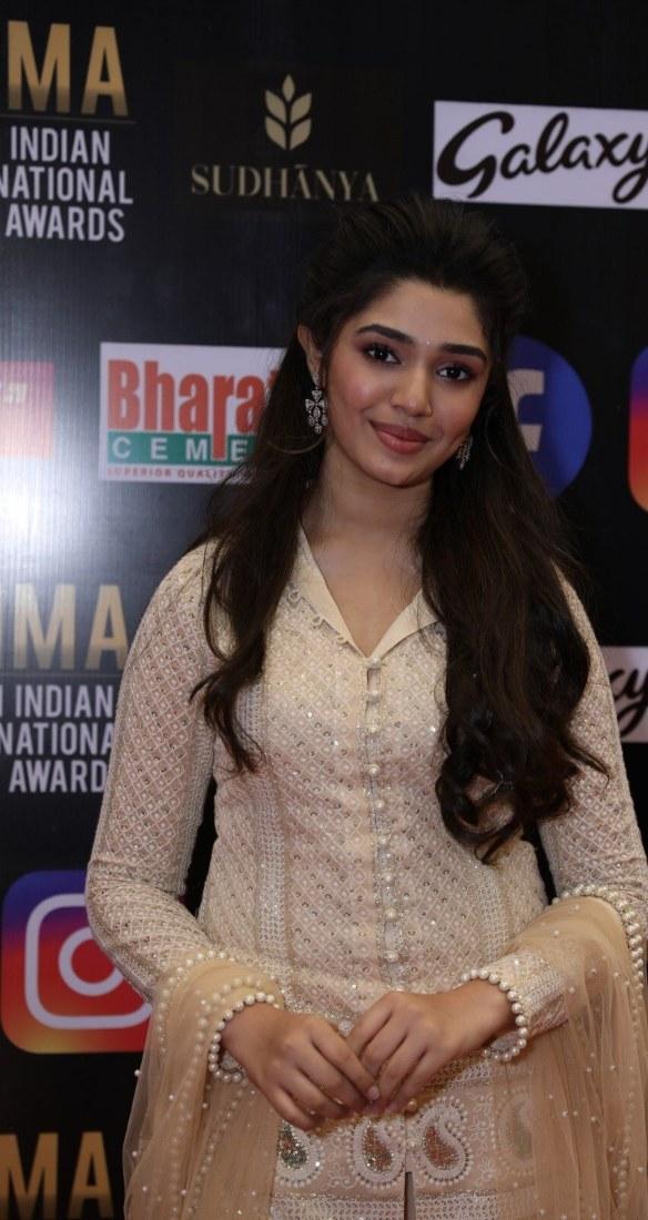 Krithi Shetty in beige kurta-set for SIIMA-2021-5