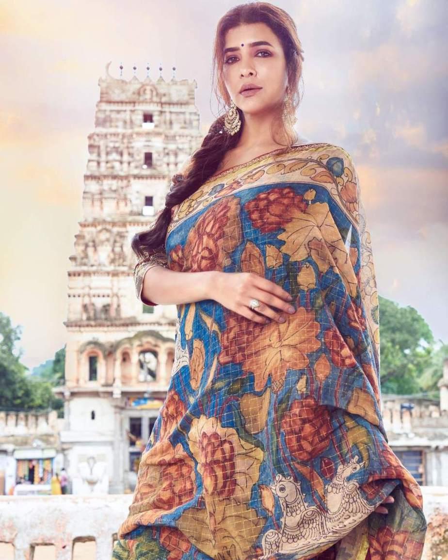 Lakshmi Manchu in a kalamkari saree-1