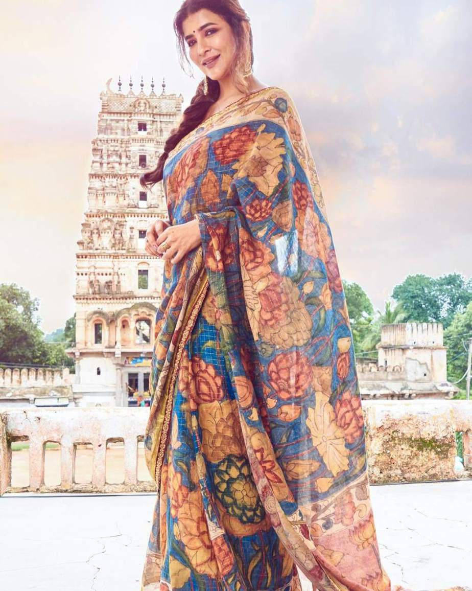 Lakshmi Manchu in a kalamkari saree-2