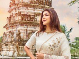 Lakshmi Manchu in a white saree-4