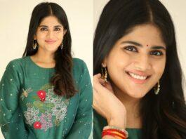 Megha Akash in a forest green kurta set by Tavare clothing for dear megha thanks meet-2