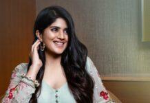 Megha Akash in a ice blue anarkali by Taavare for dear megha promotions-3