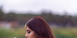 Nabha Natesh in pink half saree by Mahitha Prasad-3