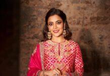 Nisha Aggarwal in a pink kurta set by Jayanti Reddy Label-1
