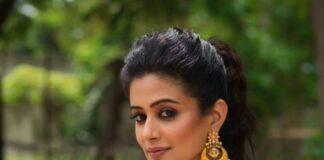 Priya Mani Raj in a red tie dyed lehenga by rivaj clothing for Dhee -3