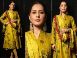 Raashii Khanna in mustard Archana Jaju for Tughlaq Durbar-Featured