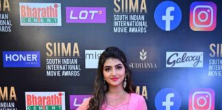 Sreeleela in a pink outfit at SIIMA 2021-3