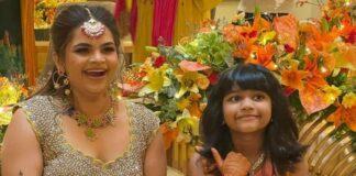 Vidyu Raman in a yellow floral lehenga for her mehendi-3