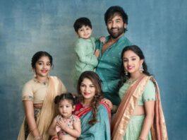 Vishnu Manchu and family in label vida for ganesh chathurti-2