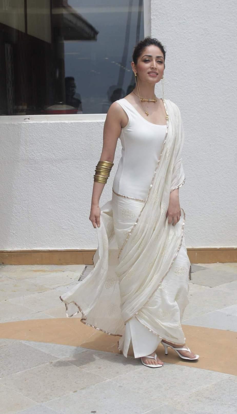 Priyanka Jawalkar in an orange sharara set for gamanam movie press meet-featured