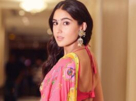 sara ali khan in customized saree