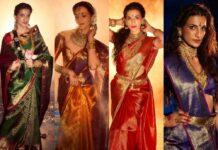 4 looks of Shilpa Reddy in kanakatala sarees for nava durga-featured