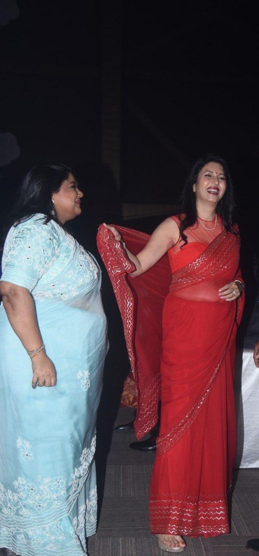 Deepti Bhatnagar in red saree at Pelli SandaD pre release-2