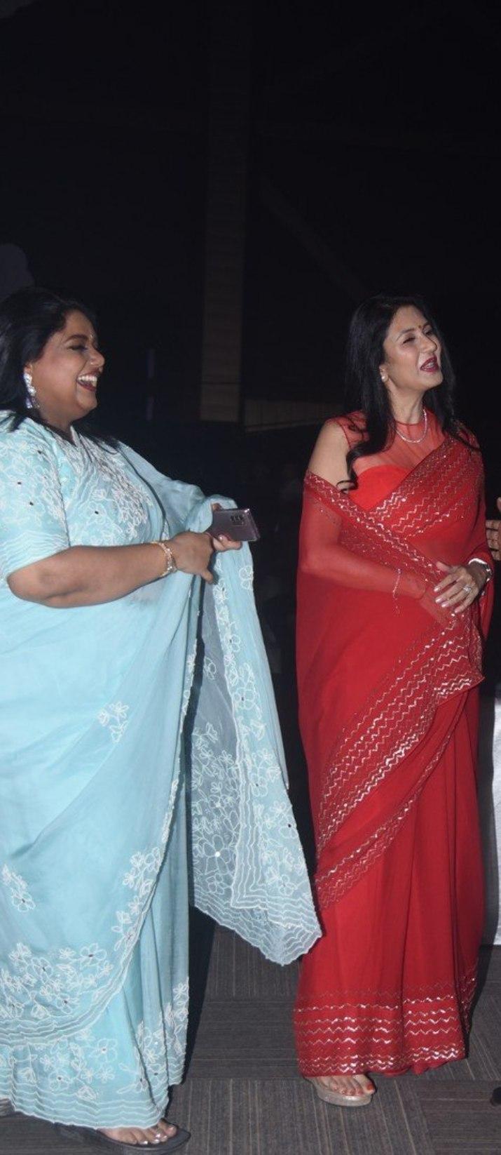 Deepti Bhatnagar in red saree at Pelli SandaD pre release-3