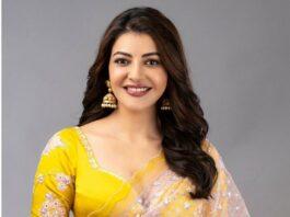 Kajal aggarwal in a blush pink saree by Madsam tinzin-1