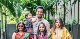 Manchu family in label vida for dusshera 2021-4