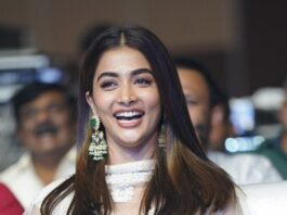 Pooja Hegde in a white lehenga for Most Eligible Bachelor pre-release event-3