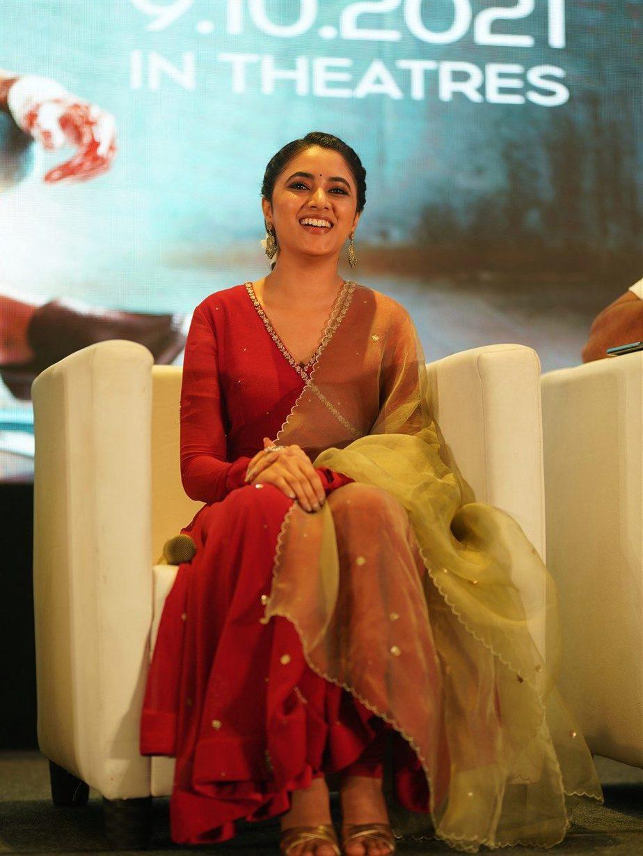 Priyanka Mohan in red anarkali set for Doctor promotions-1