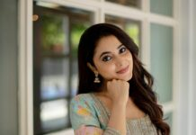 Priyanka Mohan in teal green mrunalini rao kurta set-3