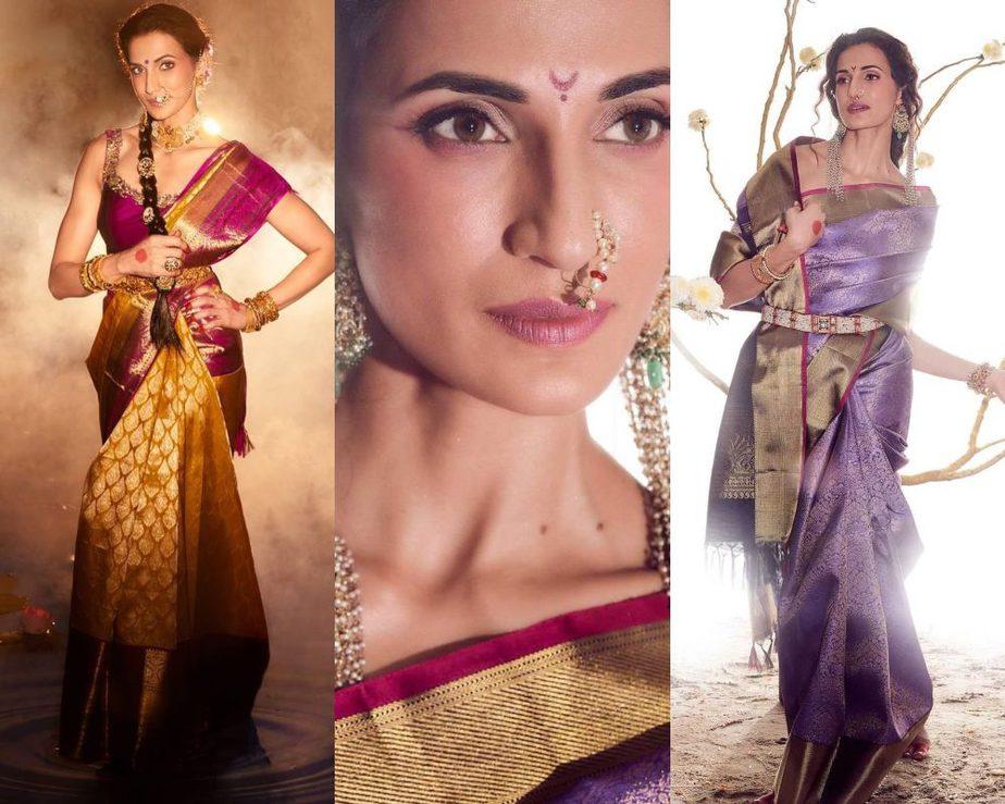 Shilpa Reddy in a kankatala saree for naavadurga series-featured