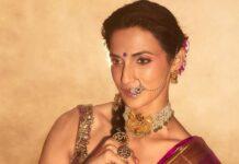 Shilpa Reddy in a kankatala saree for naavadurga series-yellow-2