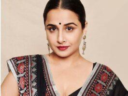 Vidya Balan in a black saree by House of urmi-3