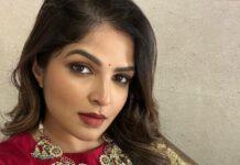 Viranica Manchu in a label vida saree for a wedding-2